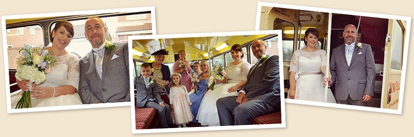 Kelly Jackson wedding bus montage